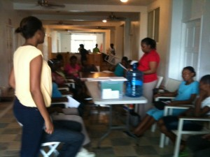 Living Waters for the World Water hygiene education class